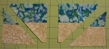 Cream blue cuts