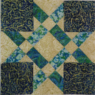 FabriQuilt Star Blog Hop Opps block