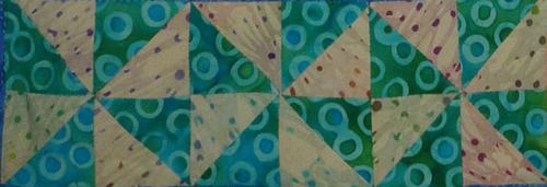 HST pinwheel block