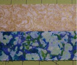 Cream blue strip set