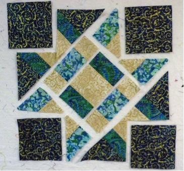 Star block pieces