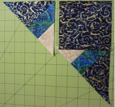 Piecing corner 3