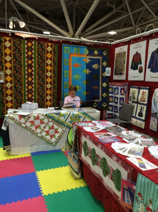 QuiltWoman Booth Spring QM 2015
