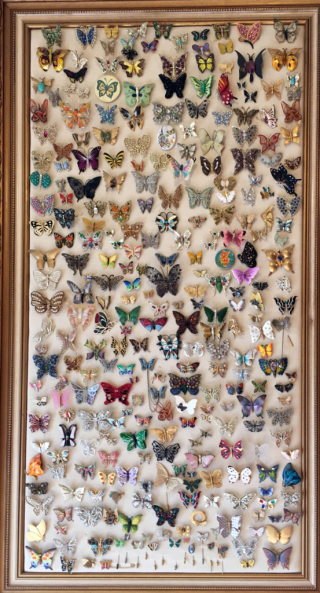Butterfly pin collection