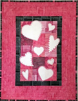 Primitive Stitch Hearts