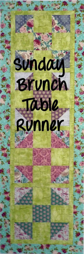 Sundy Brunch Table Runner w text
