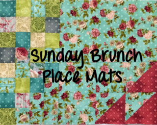 Sunday brunch placemats w text