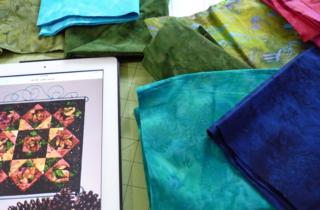 Little Gems Blog Hop Fabric selection