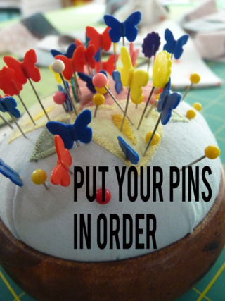 Put your pins in order