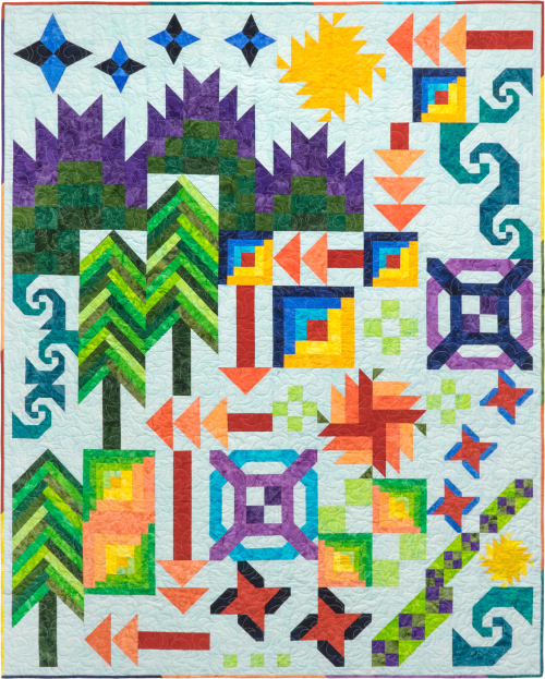 Batik Foundations - Adventure Quilt BOM Hi-Res