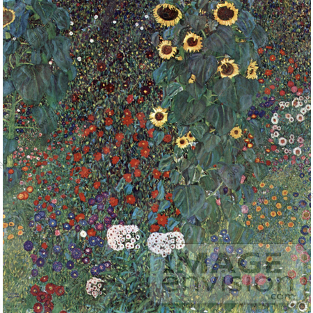19063-photo-of-a-flower-garden-with-sunflowers-by-gustav-klimt-by-jvpd