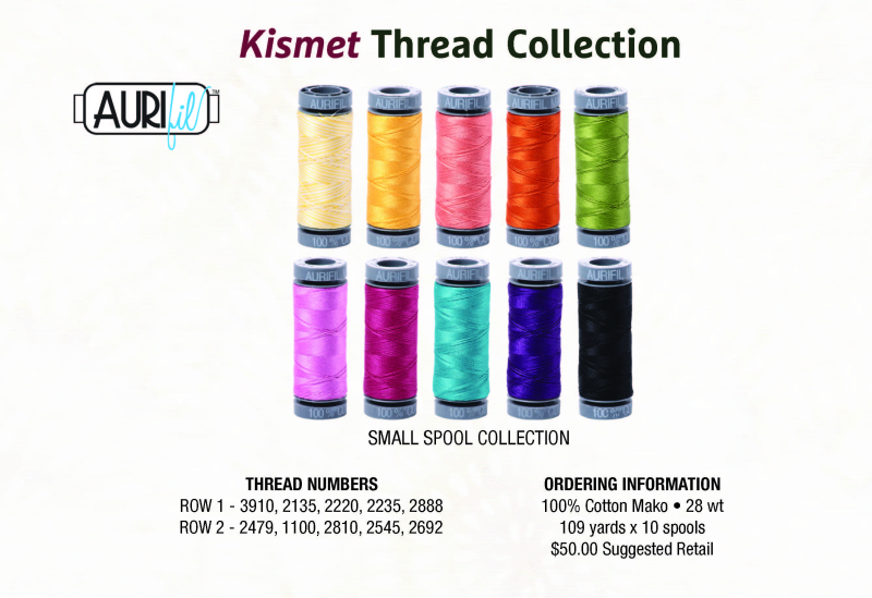 Kismet Blog Hop featured by top US quilting blog and shop, Tamarinis: image of Kismet Thread Collection rs