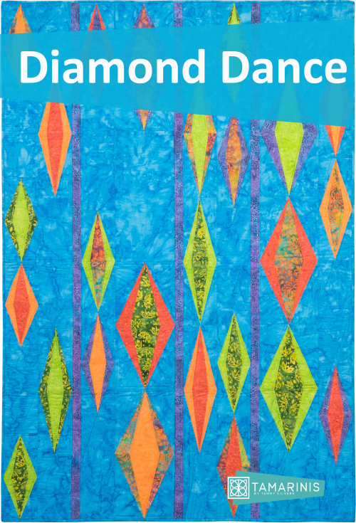 Kismet Blog Hop featured by top US quilting blog and shop, Tamarinis: image of Diamond Dance Blog Pic
