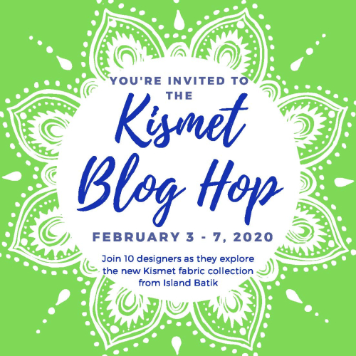 The Final Day of the Kismet Blog Hop featured by top US quilting shop and blog, Tamarinis: image of Kismet Blog Hop Badge