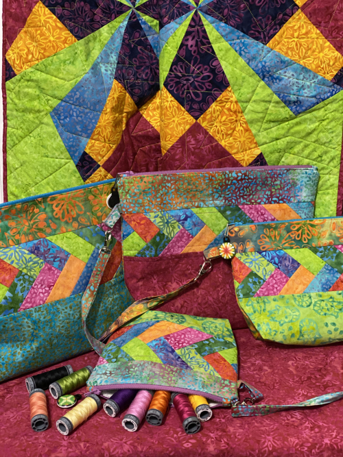 The Final Day of the Kismet Blog Hop featured by top US quilting shop and blog, Tamarinis: image of Packitup Kismet 8