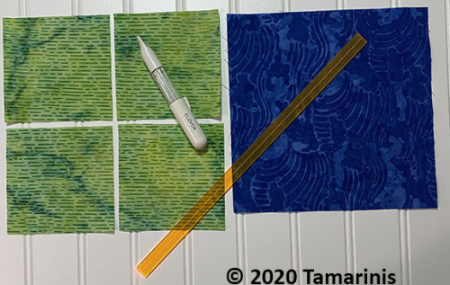 How to Make flying geese units, a tutorial featured by top US quilting blog and shop, Tamarinis: Flying Geese No Waste pieces copy