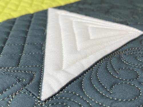 Novalie quilting closeup 2