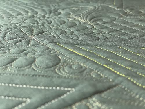 Novalie quilting closeup