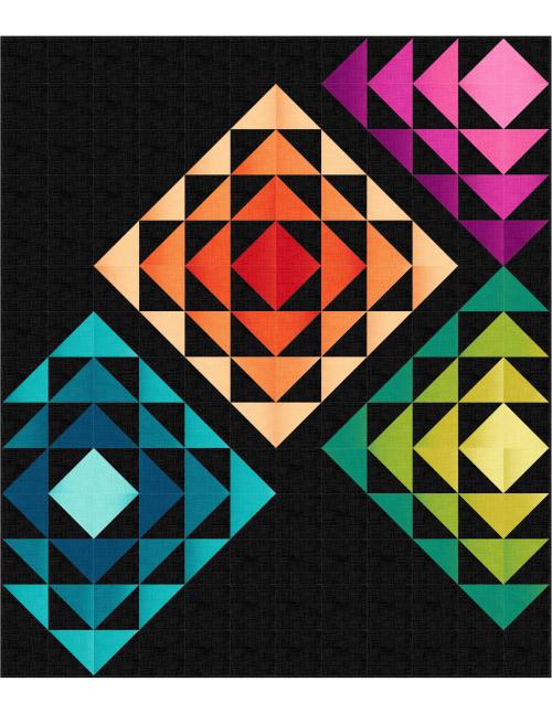 Granny Squares Dreamweaver Black 60x70