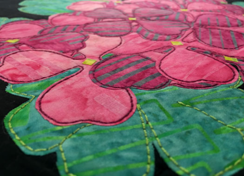Machine Applique Geraniums