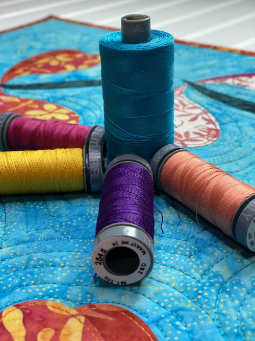 Tiki Punch Dragonfly Dance Aurifil Threads