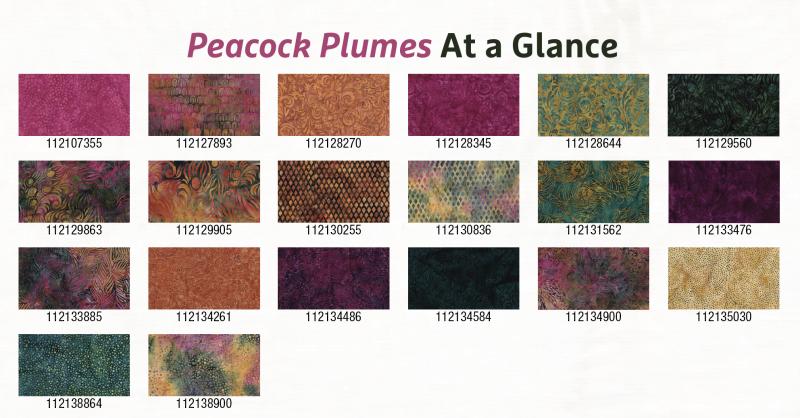 Peacock Plumes Individual Fabrics