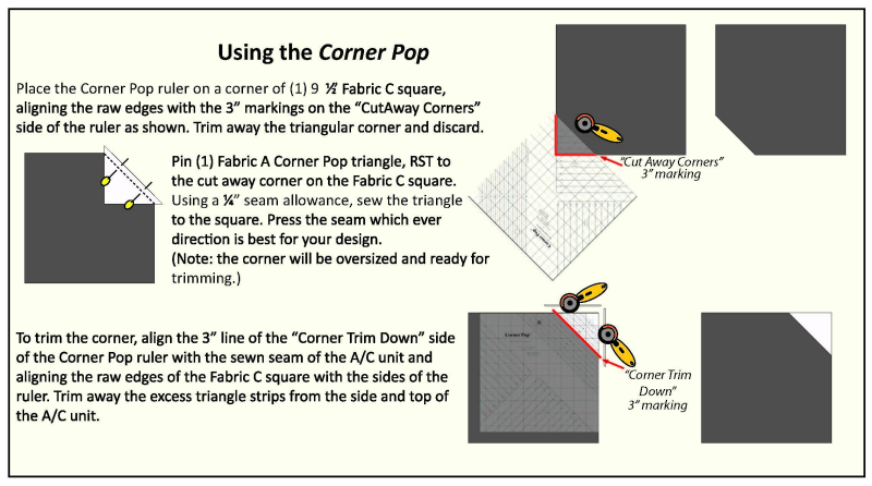 Corner Pop Instructions