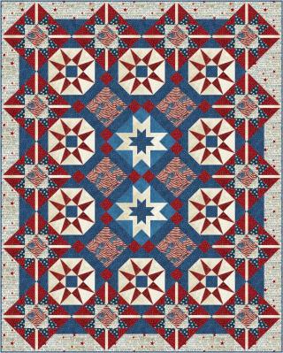 Star Spangled Banner Quilt 68x85