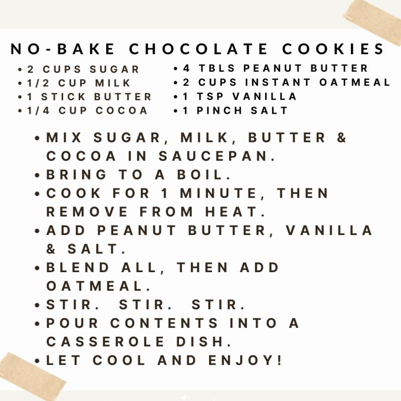 No Bake Cookie Recipe (1)